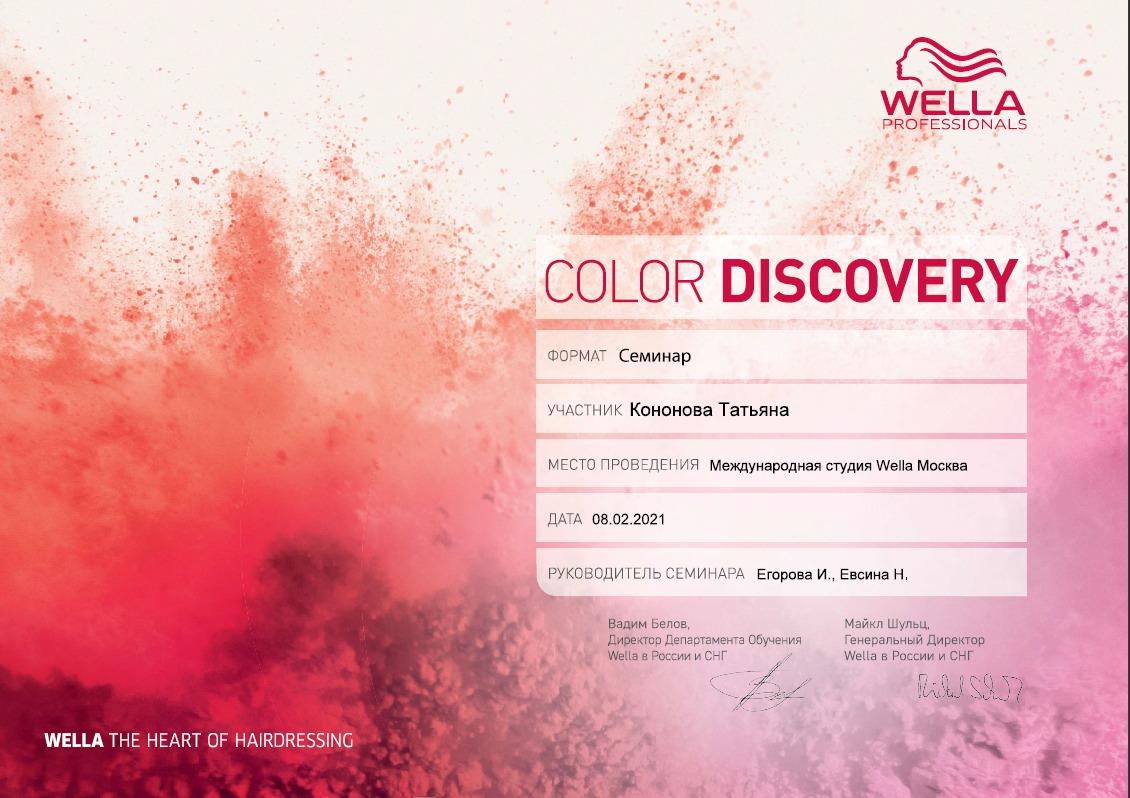 2021, Семинар Color Discovery, Международная студия WELLA
