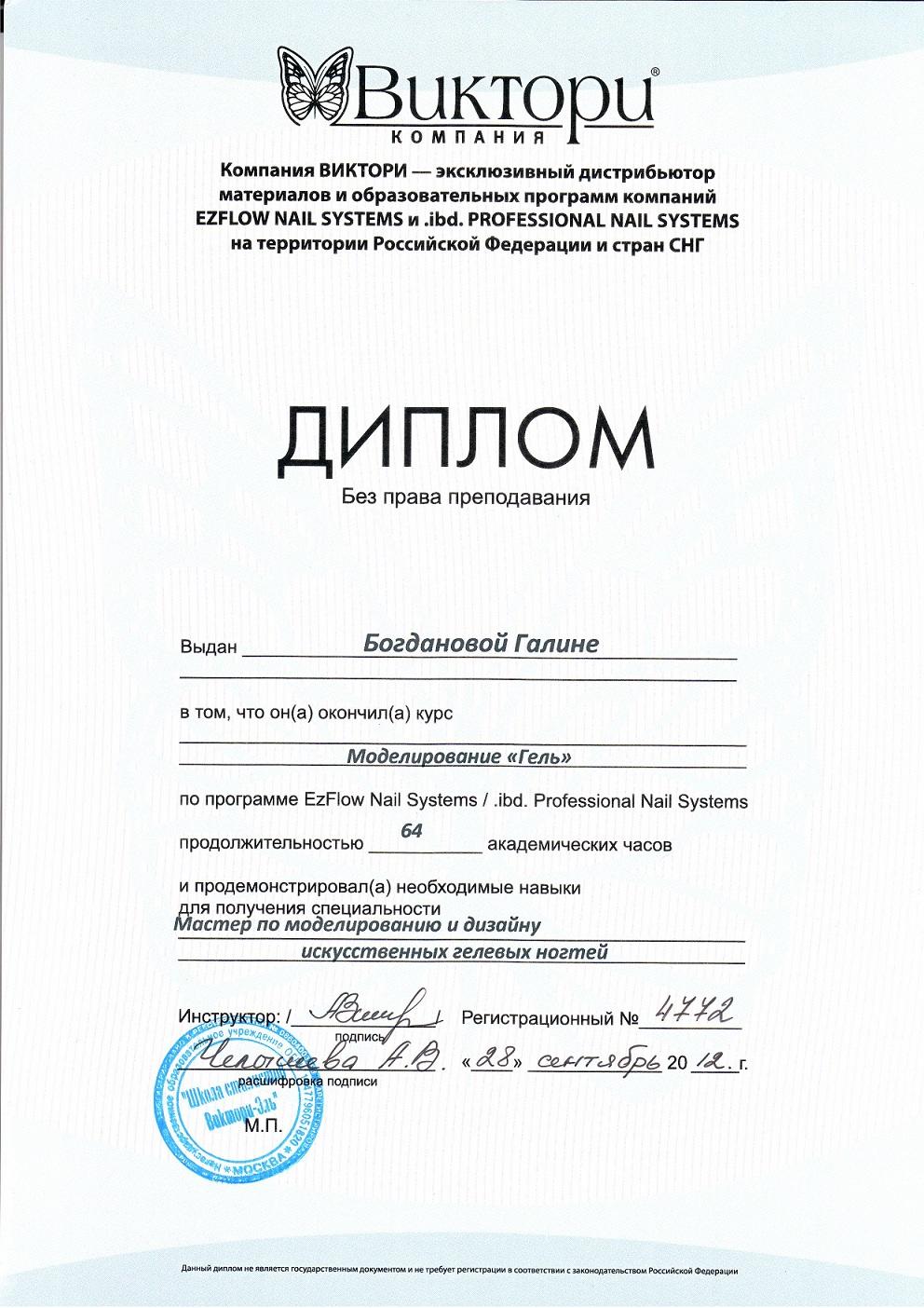 2012 диплом Моделирование Гель