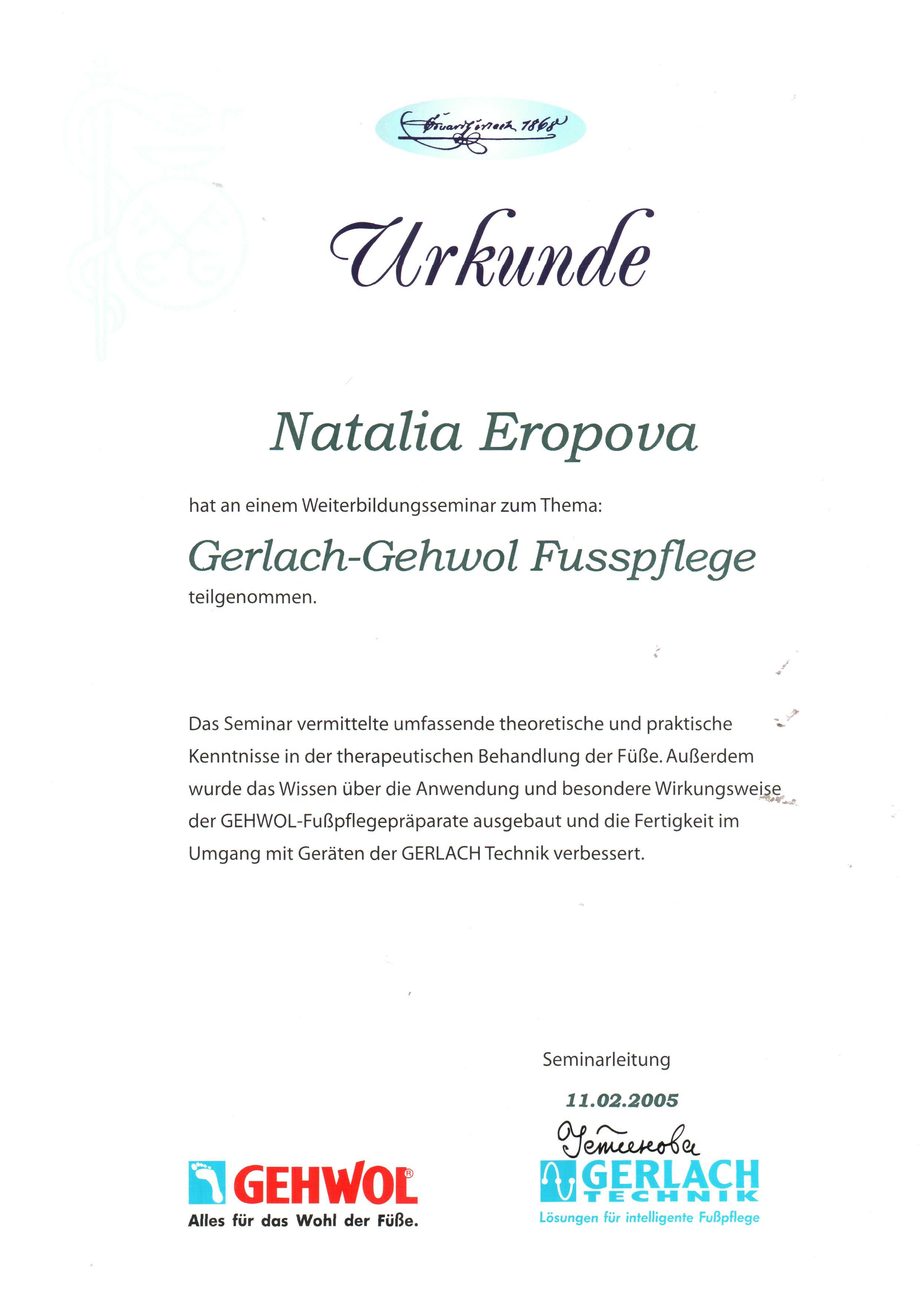 2005 Gerlach-Gehwol