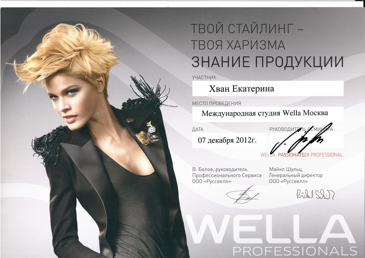 2012 твой стайлинг, твоя харизма - знание продукции wella