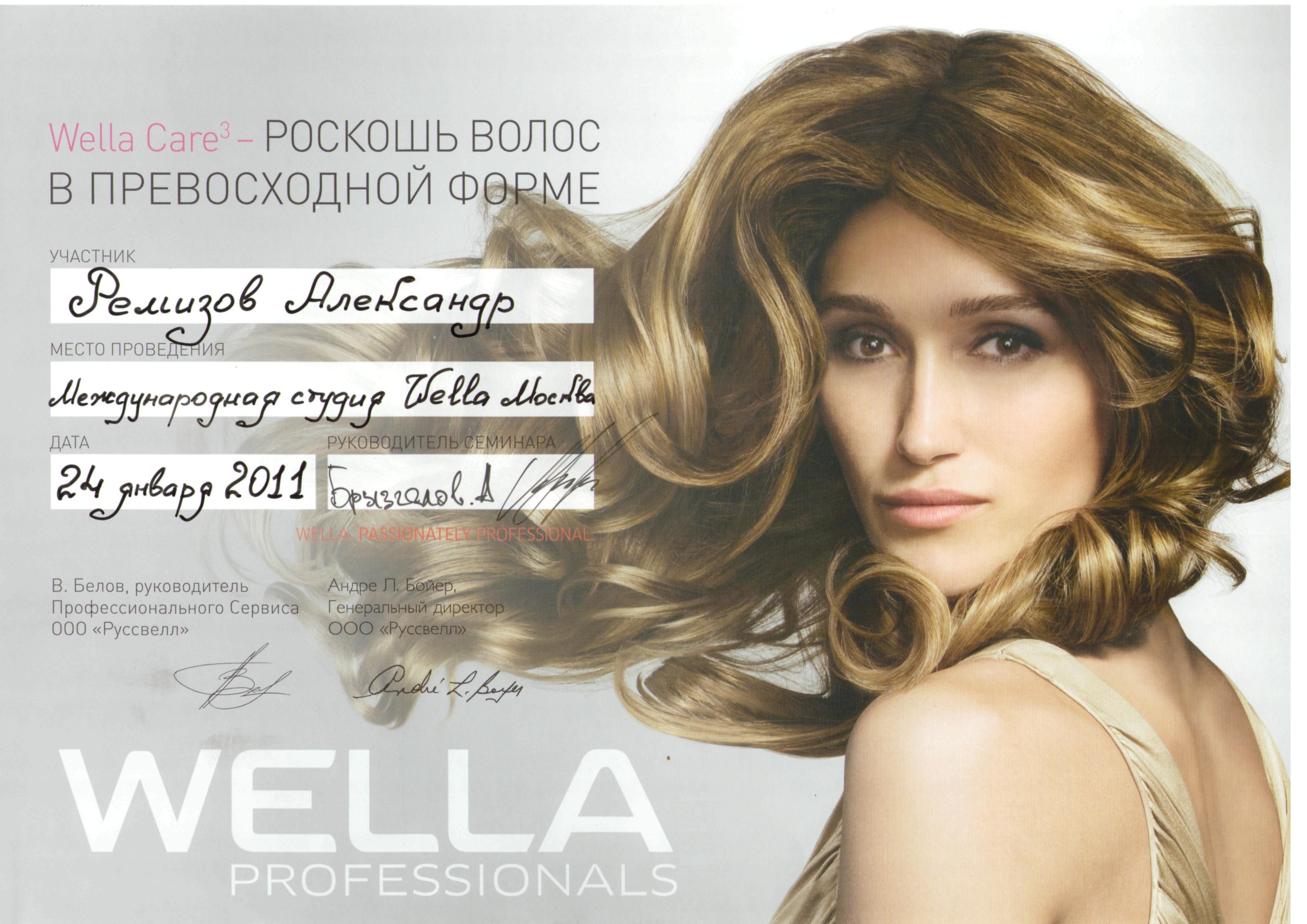 2011 роскошь волос wella