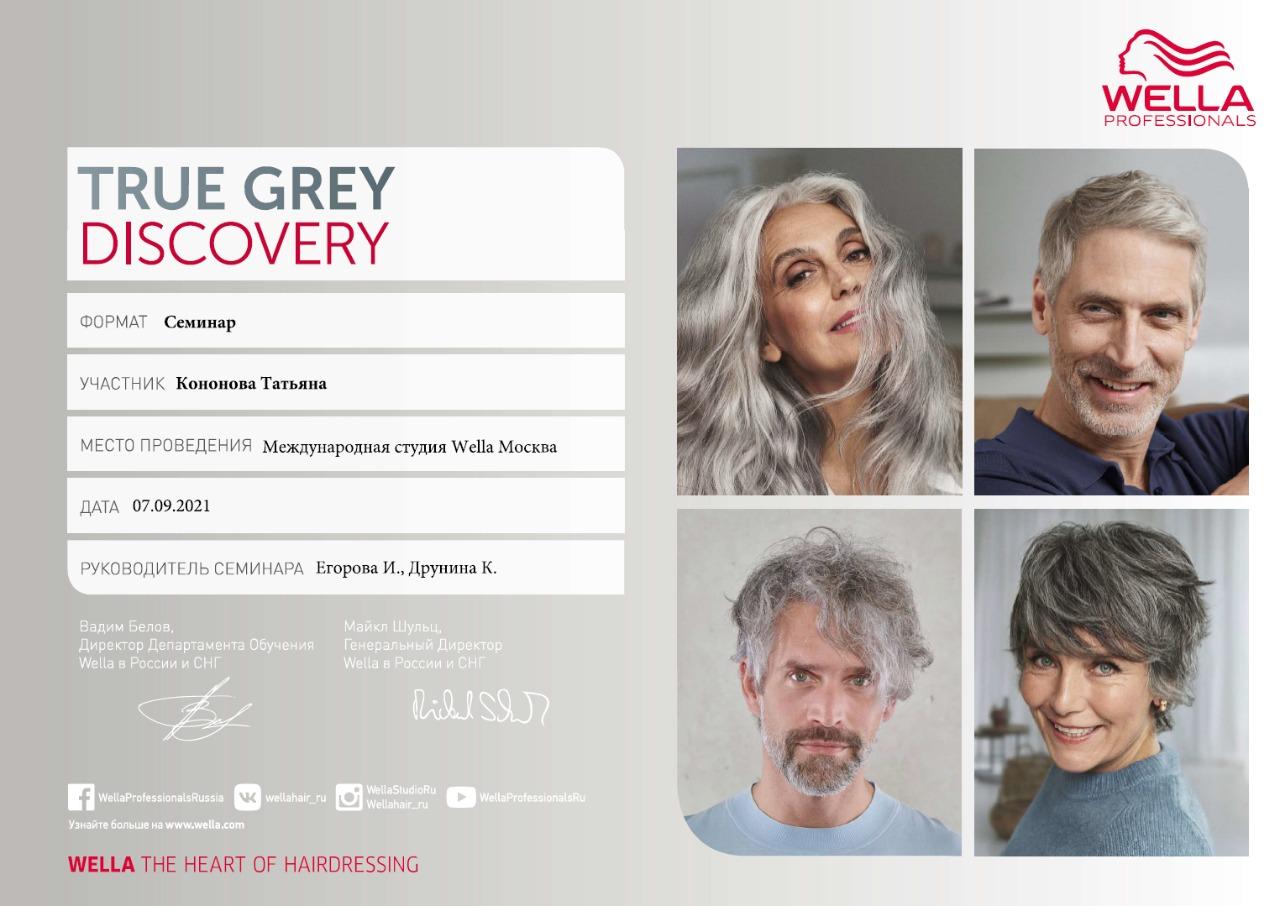 2021, Международная студия Wella, True Grey Discovery