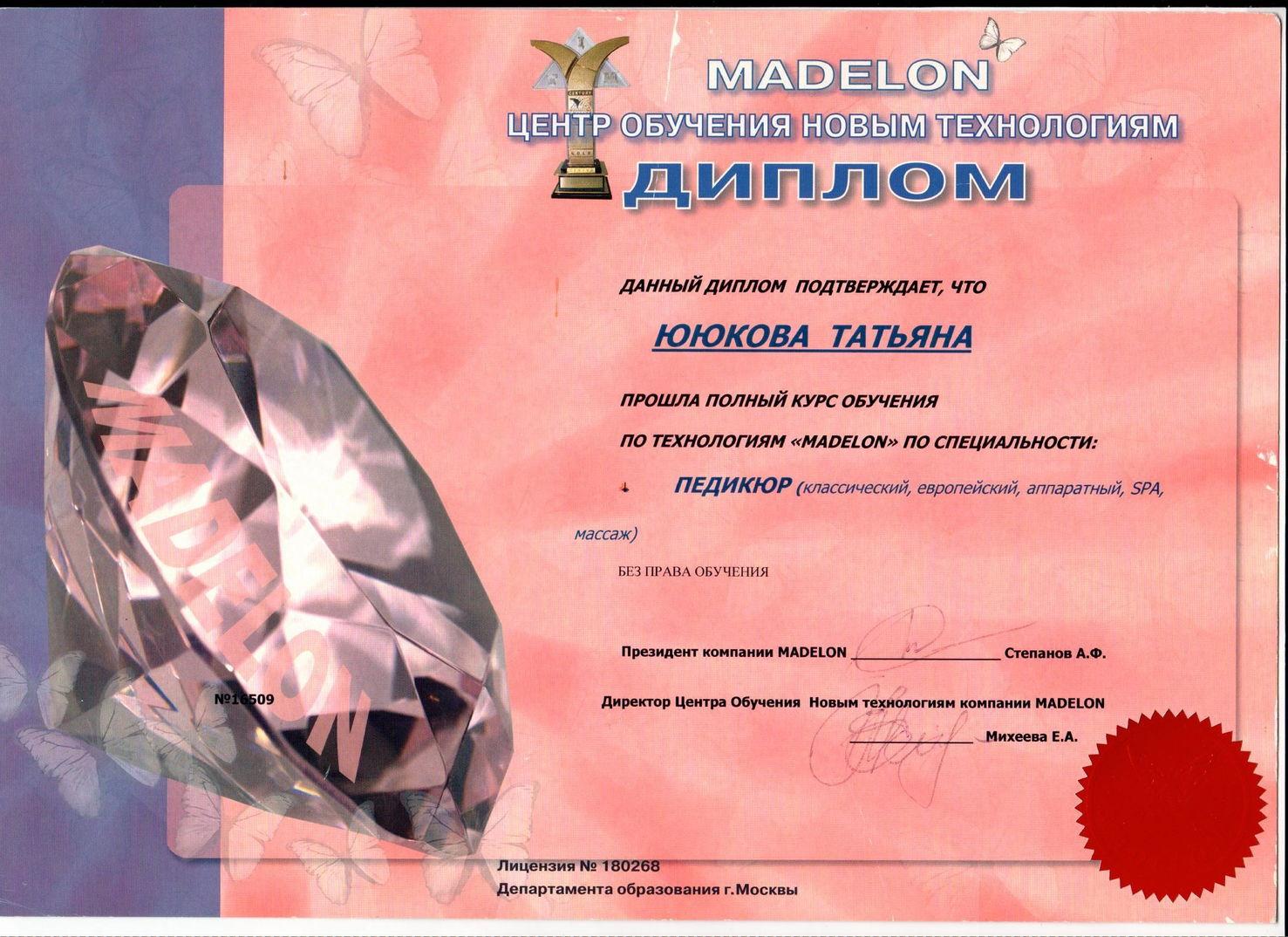 2009 madelon