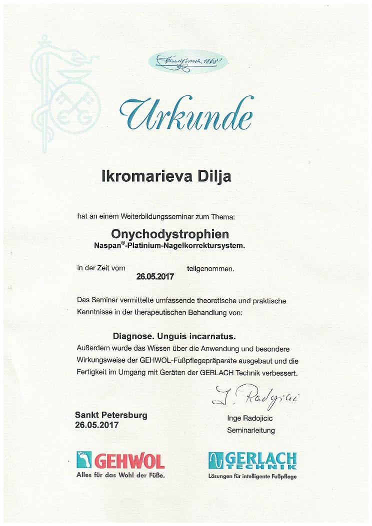 2017 обучение в Санкт-Петербурге Onychodystrophien