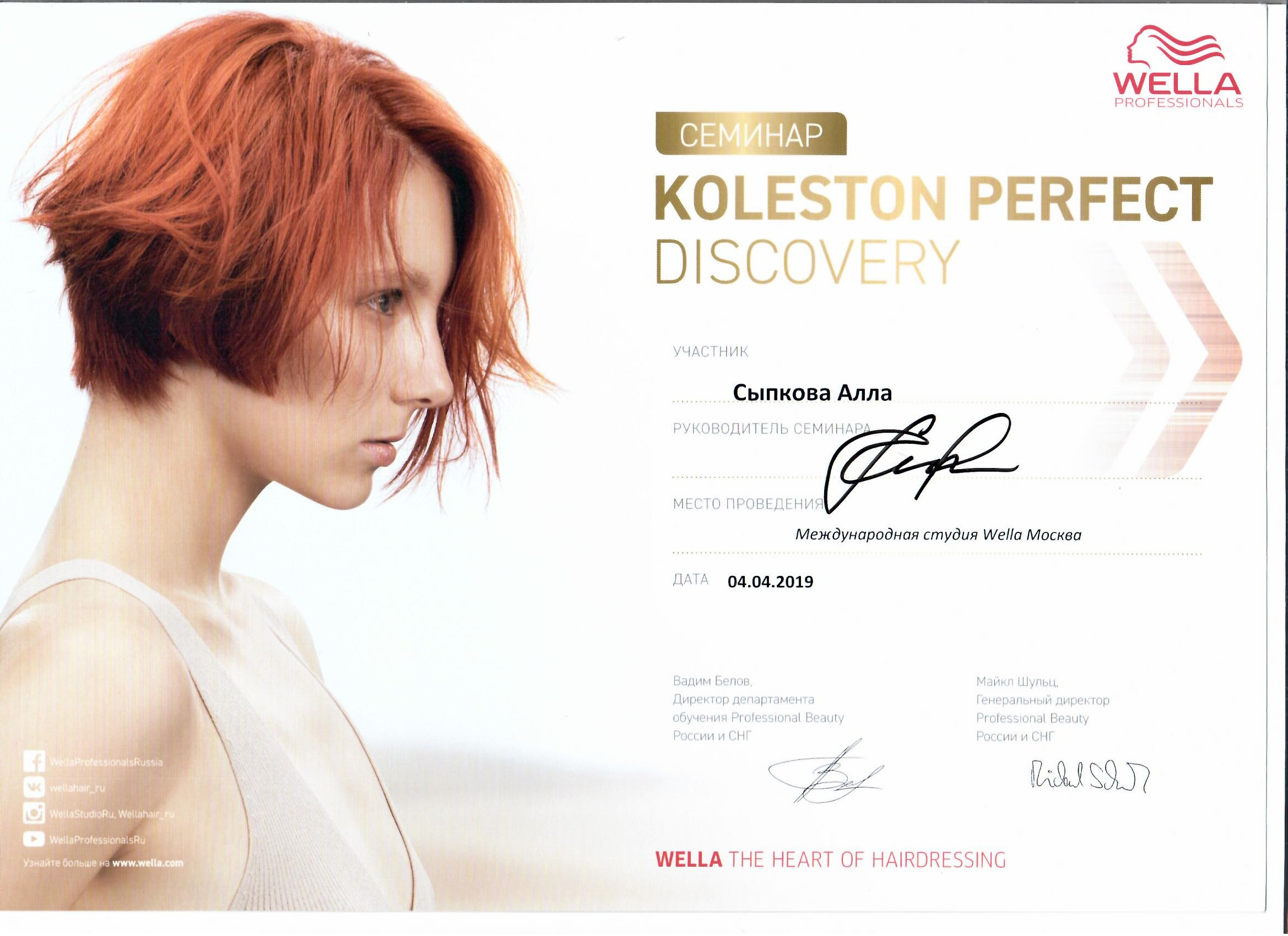 2019 koleston perfect discovery wella