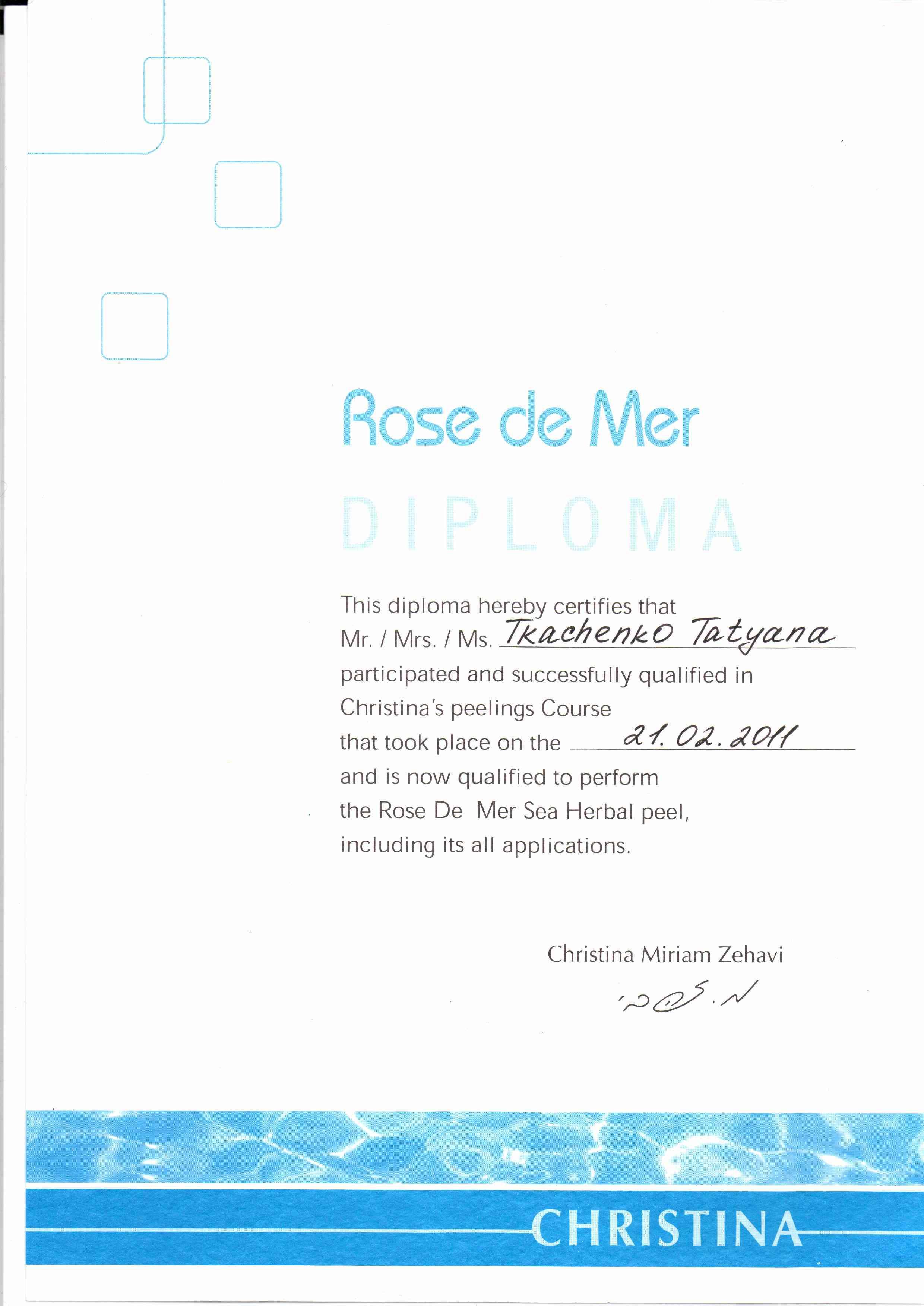 2011 Christina Rose De Mer