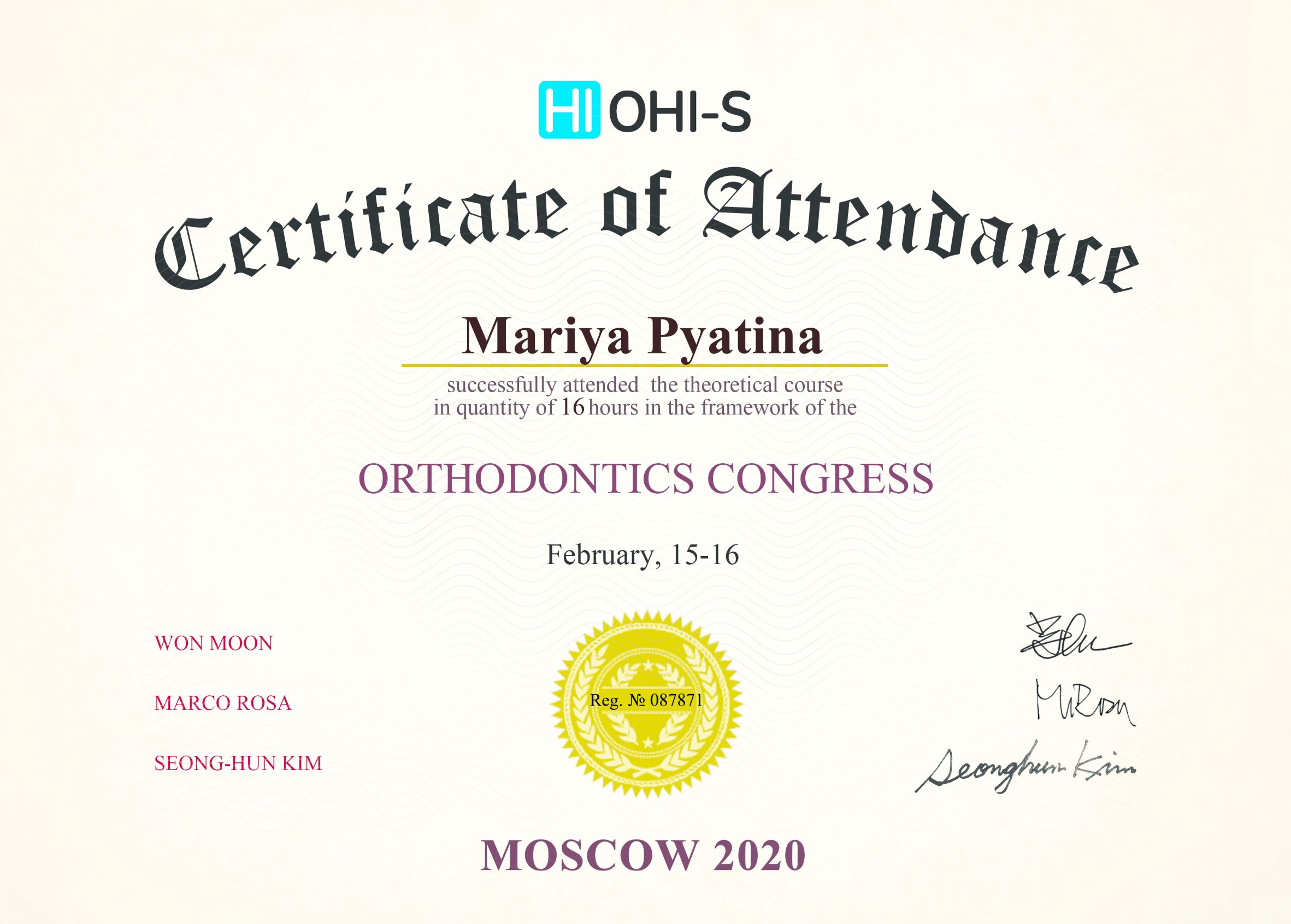 2020, HI OHI-S, Moscow