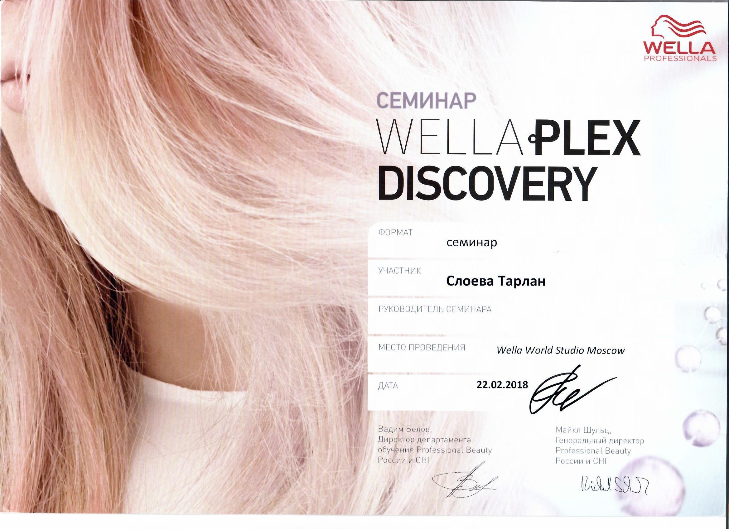 2018 wellaplex discovery