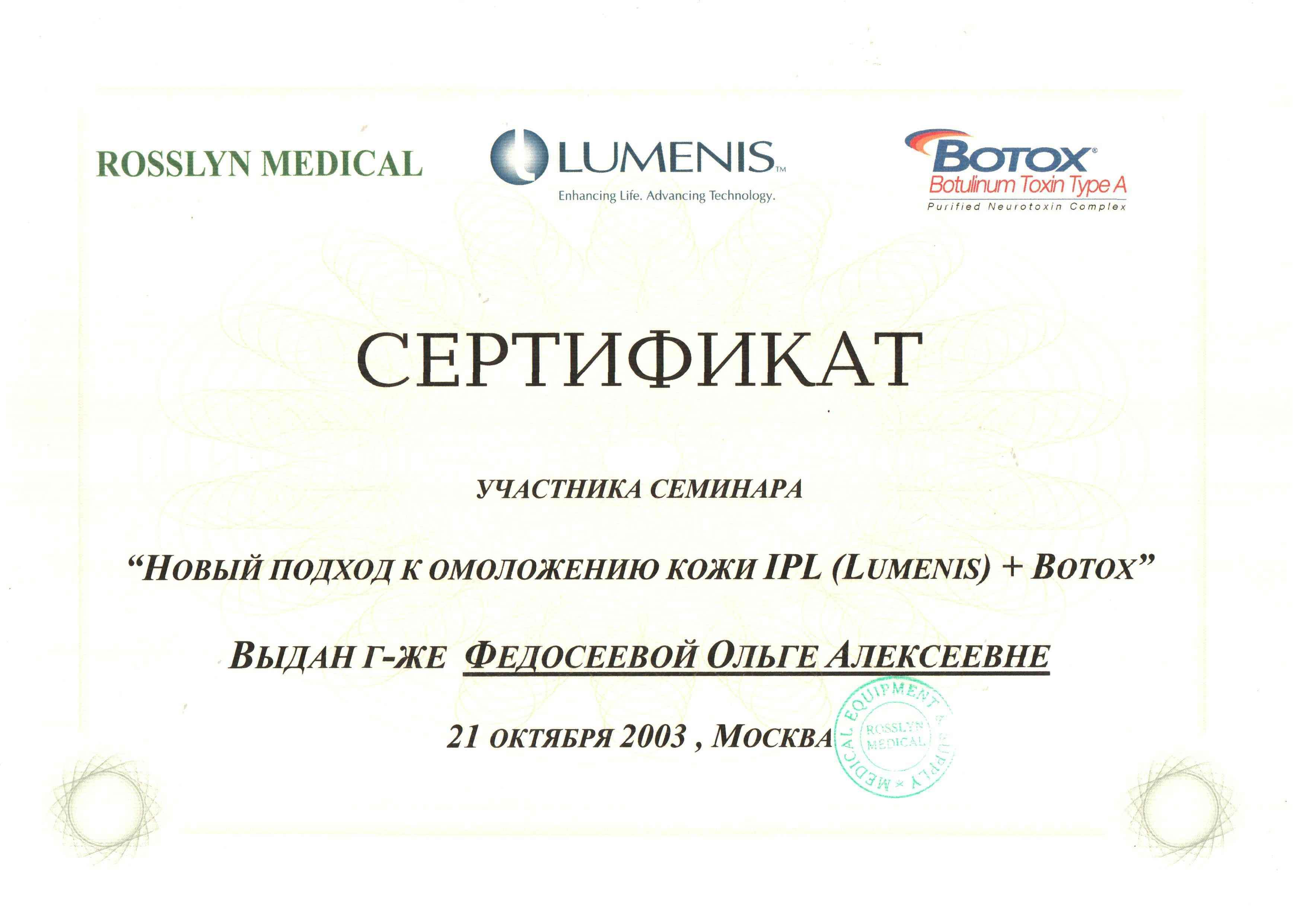 2003 ipl+botox