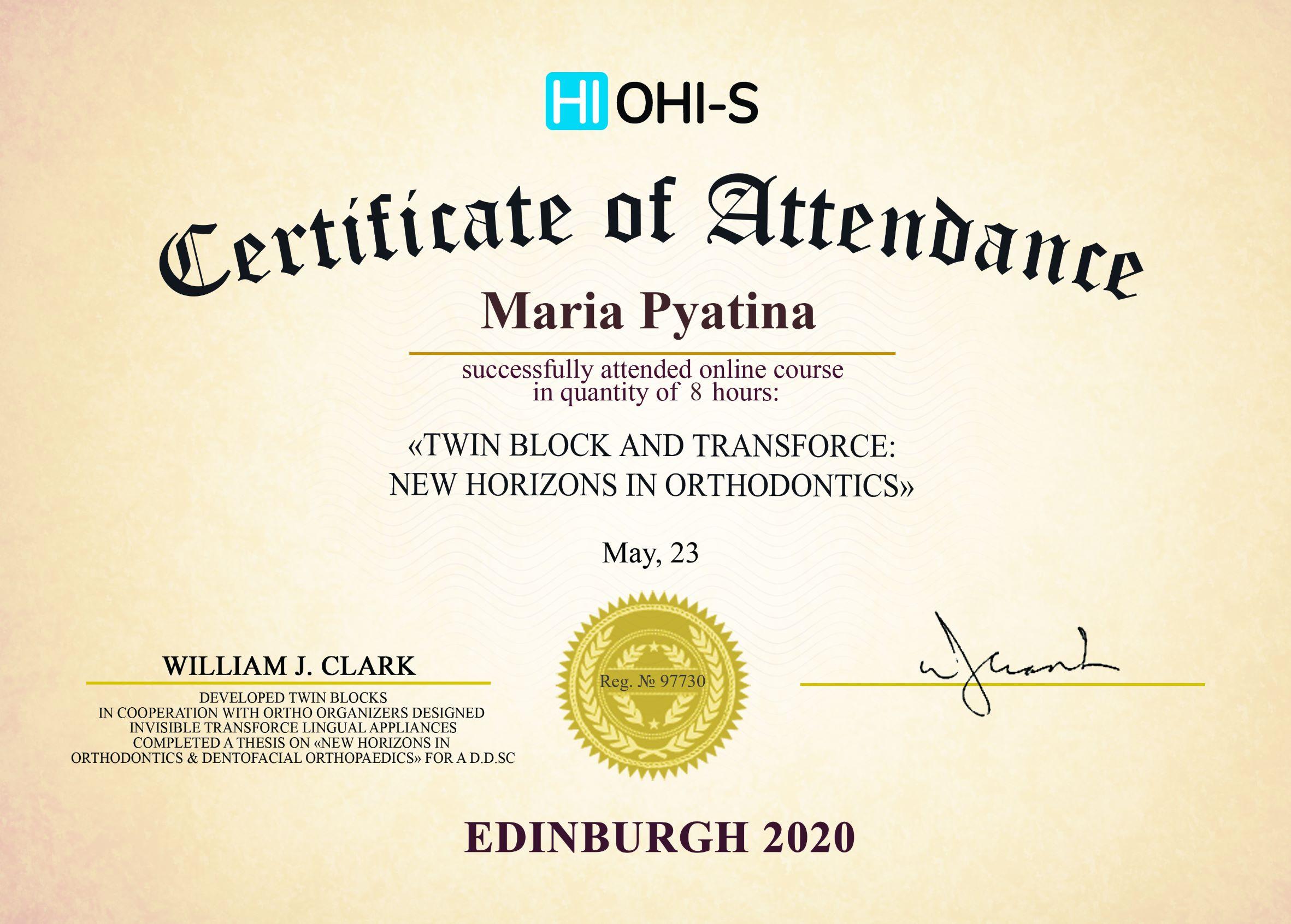 2020, HI OHI-S, Edinburgh