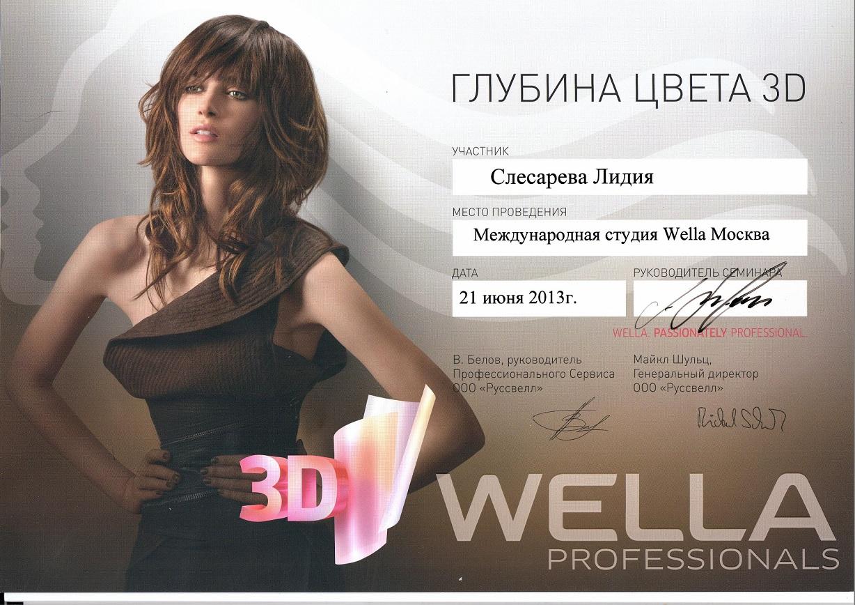 2013 глубина цвета 3d wella