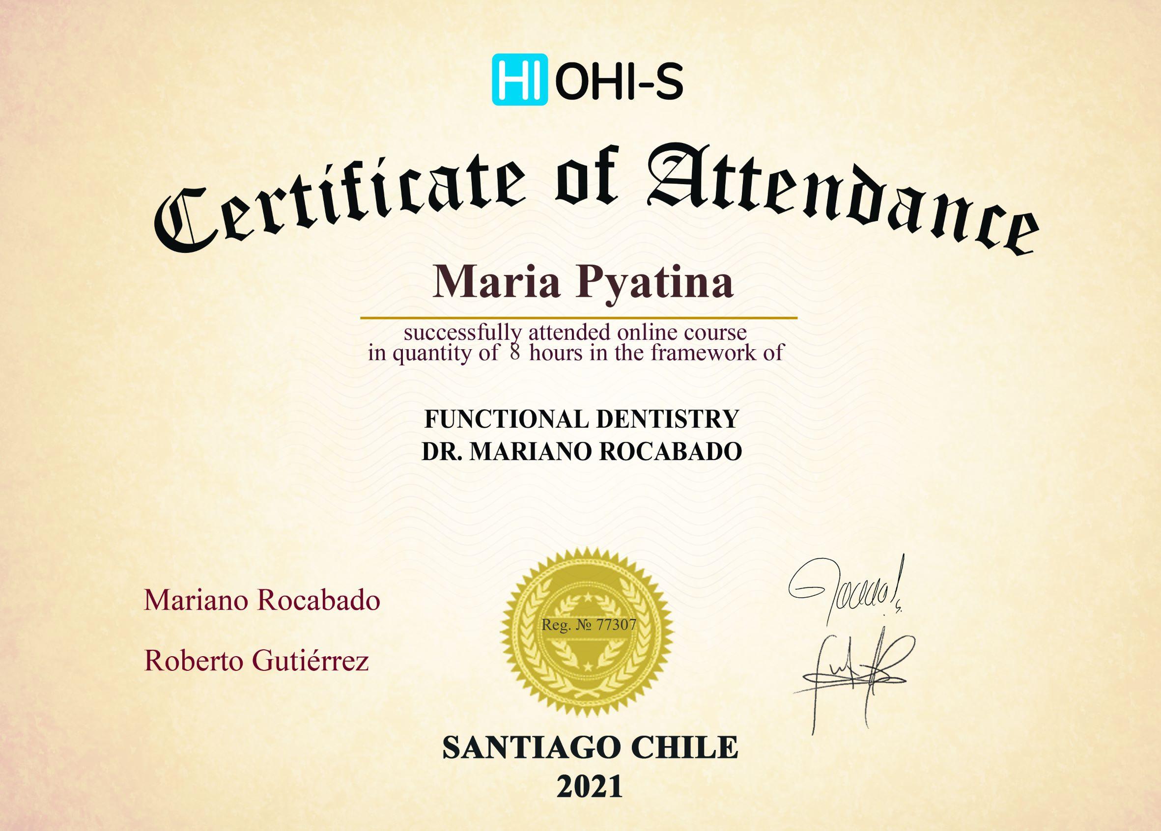 2021, HI OHI-S, Santiago Chile