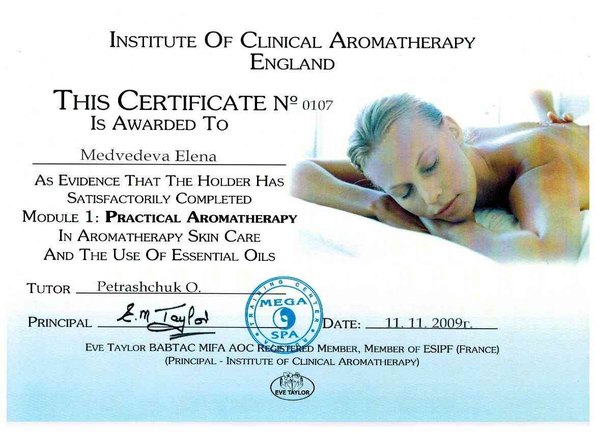 2009 семинар по практической ароматерапии Eve Talor