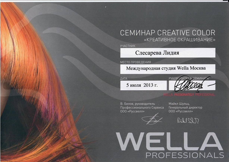 2013 креативное окрашивание wella