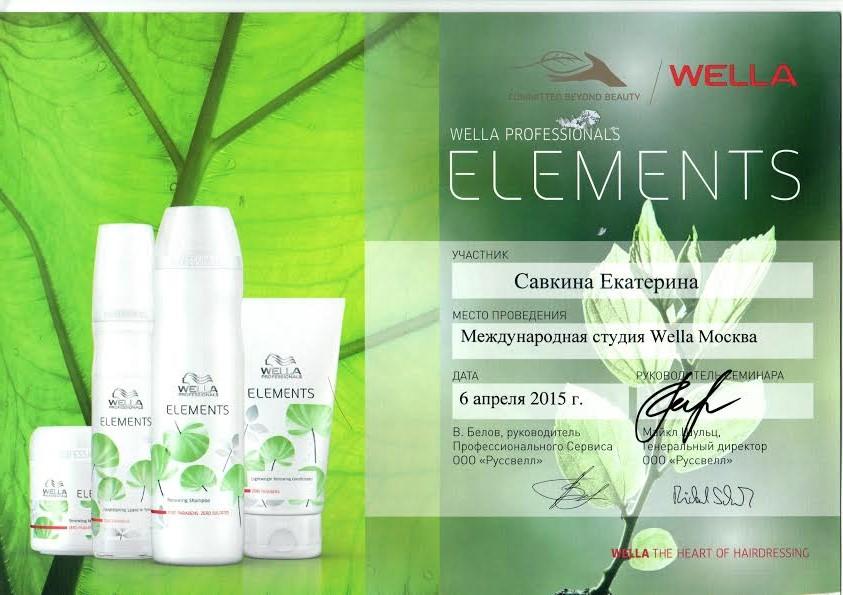 2015 elements wella