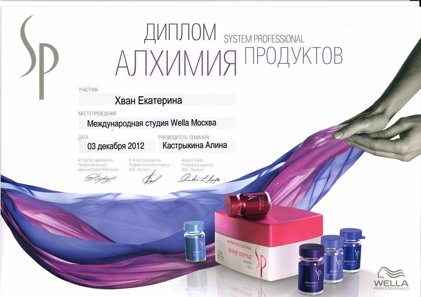 2012 sp алхимия продуктов