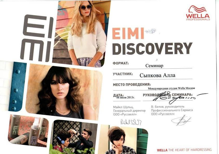 2015 Eimi Discovery wella