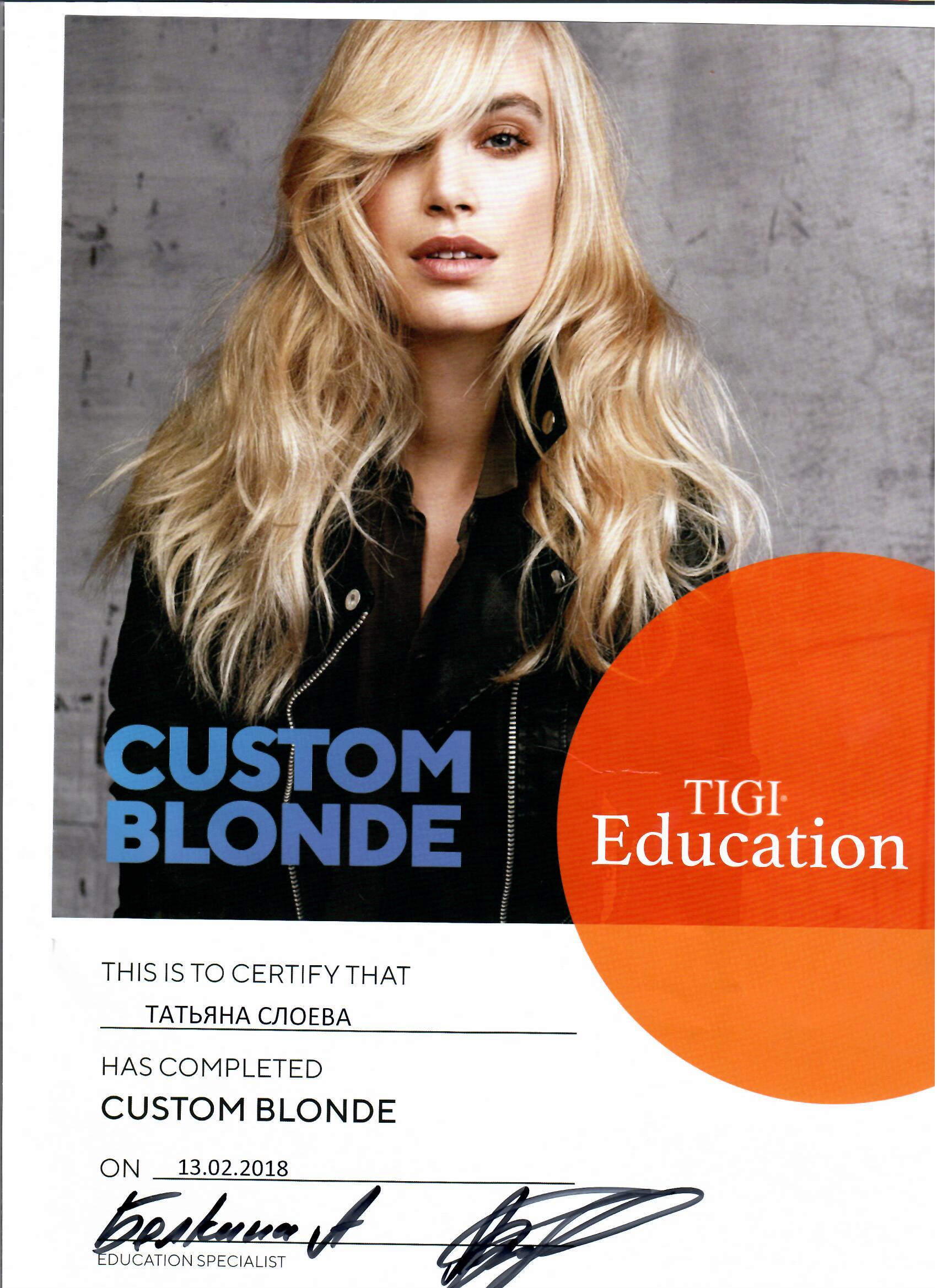 2018 custom blonde tigi