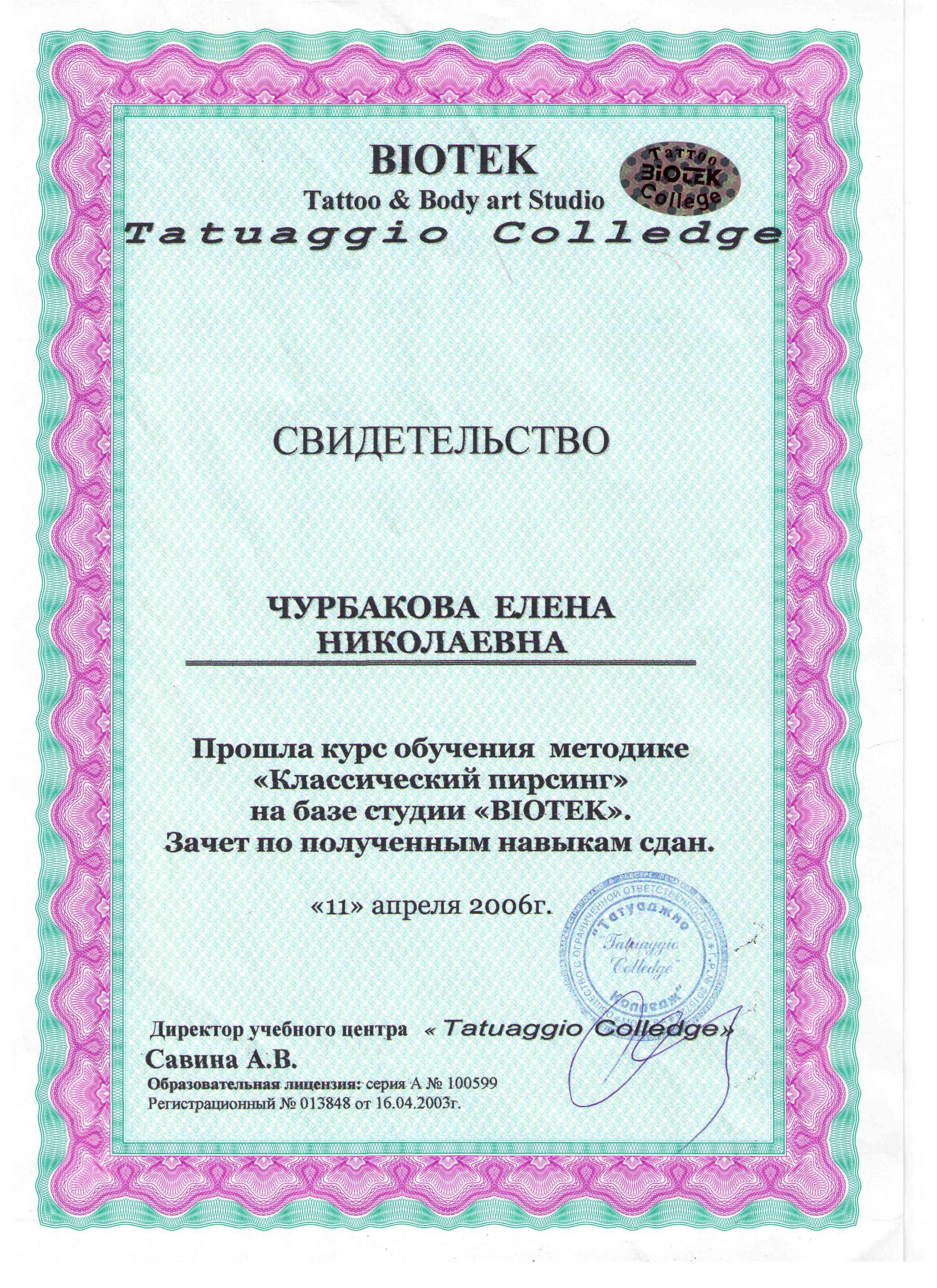 2006 пирсинг