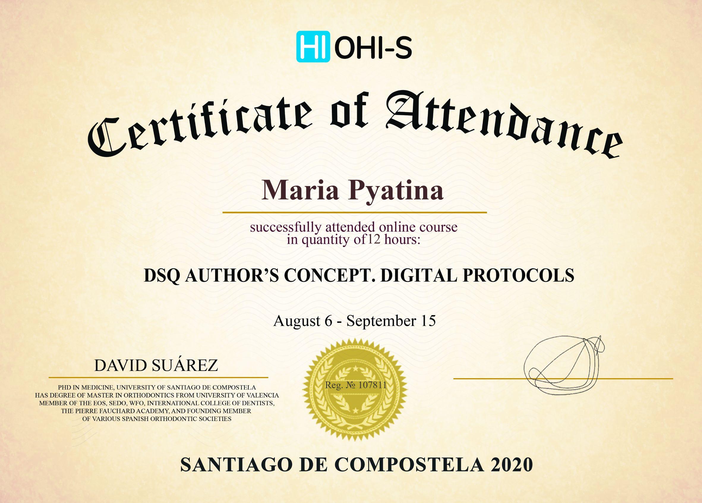 2020, HI OHI-S, Santiago de Compostela