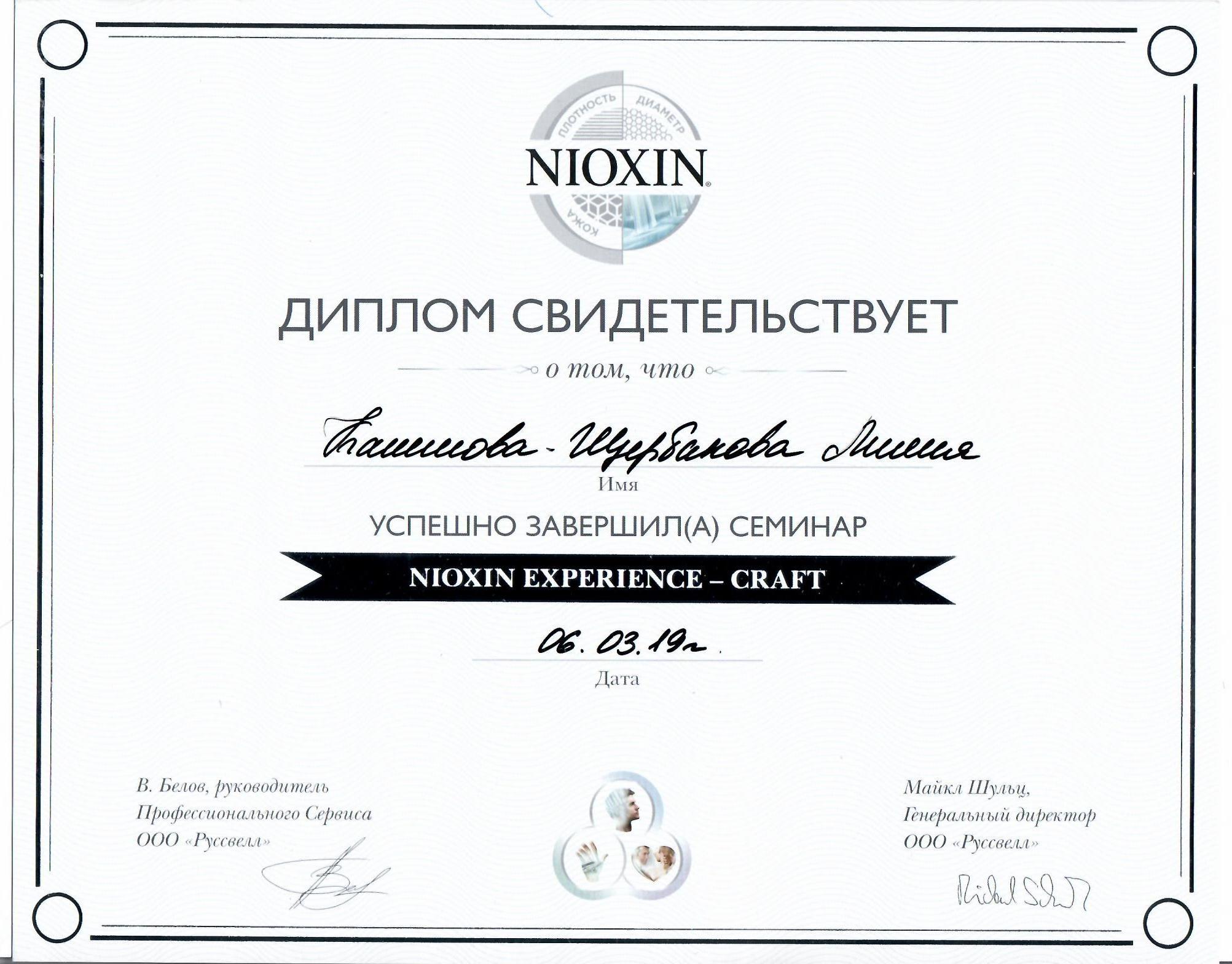 2019-2 nioxin