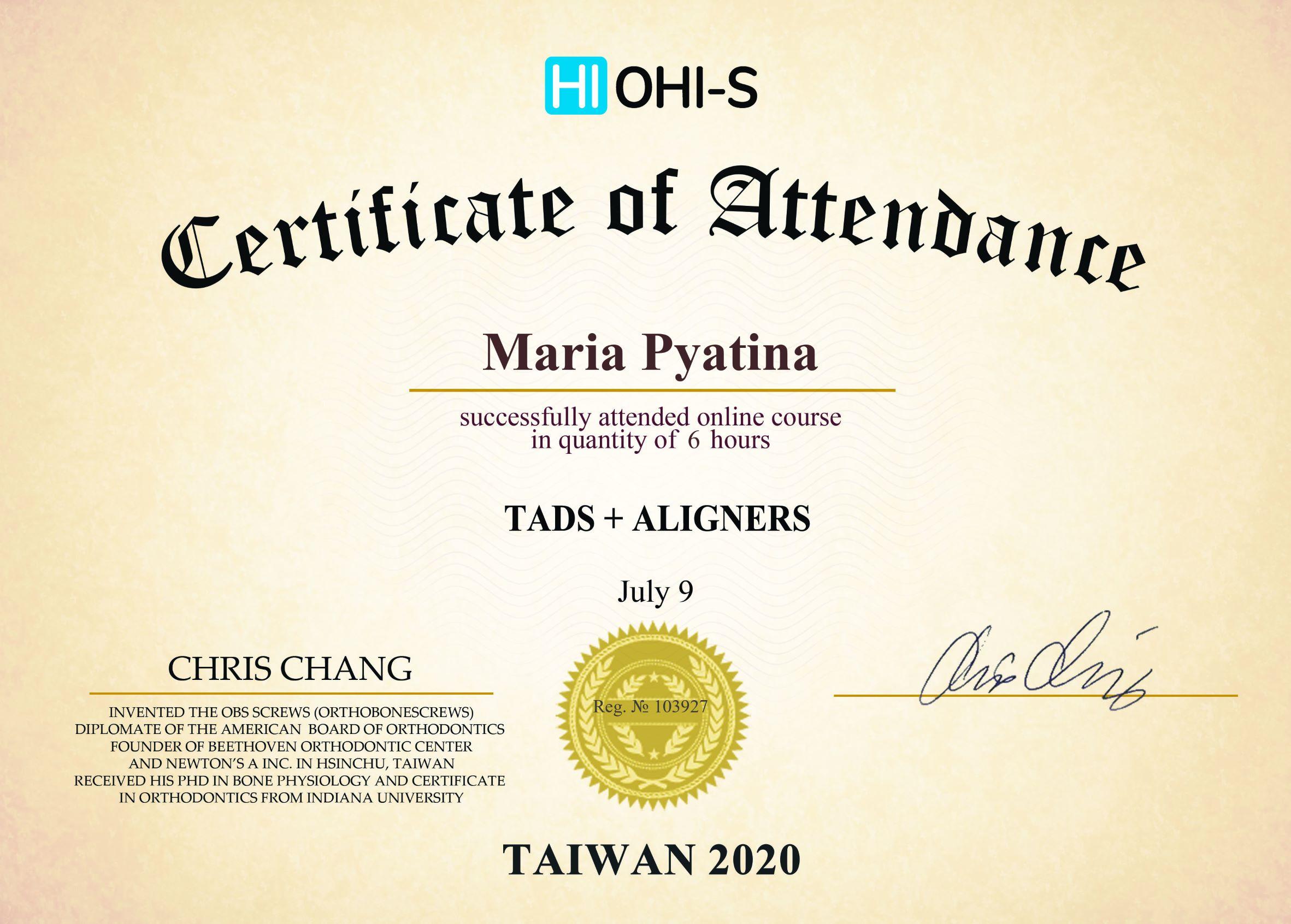 2020, HI OHI-S, Taiwan