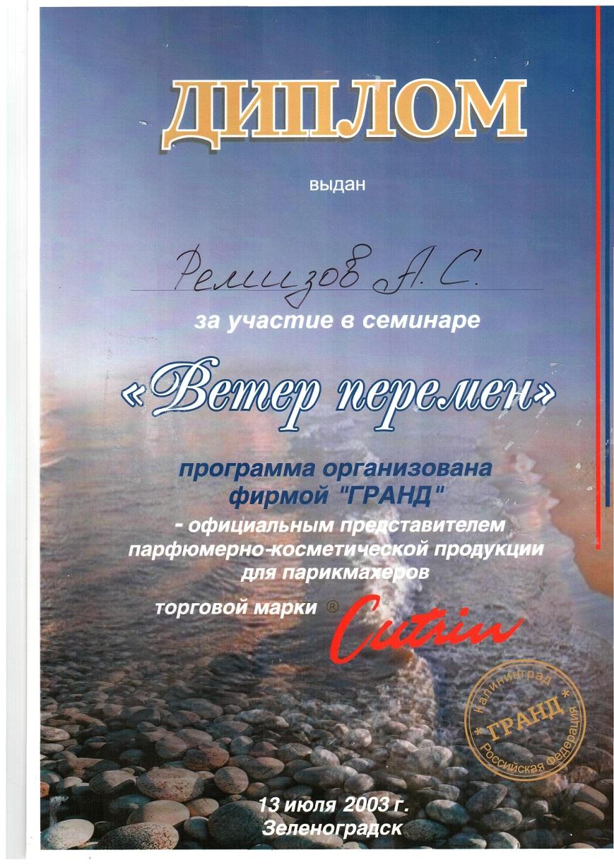 2003 участие в семинаре Ветер перемен