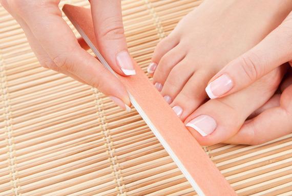 Обработка ногтей на ногах (без педикюра) или стоп