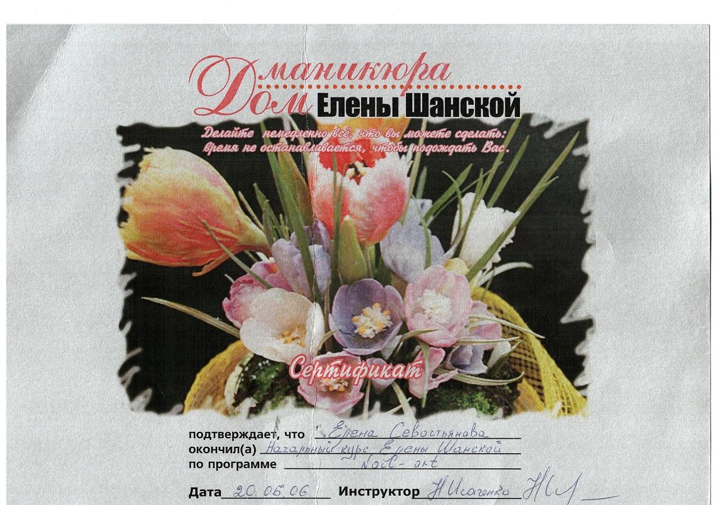 2006 Дом маникюра Елены Шанской