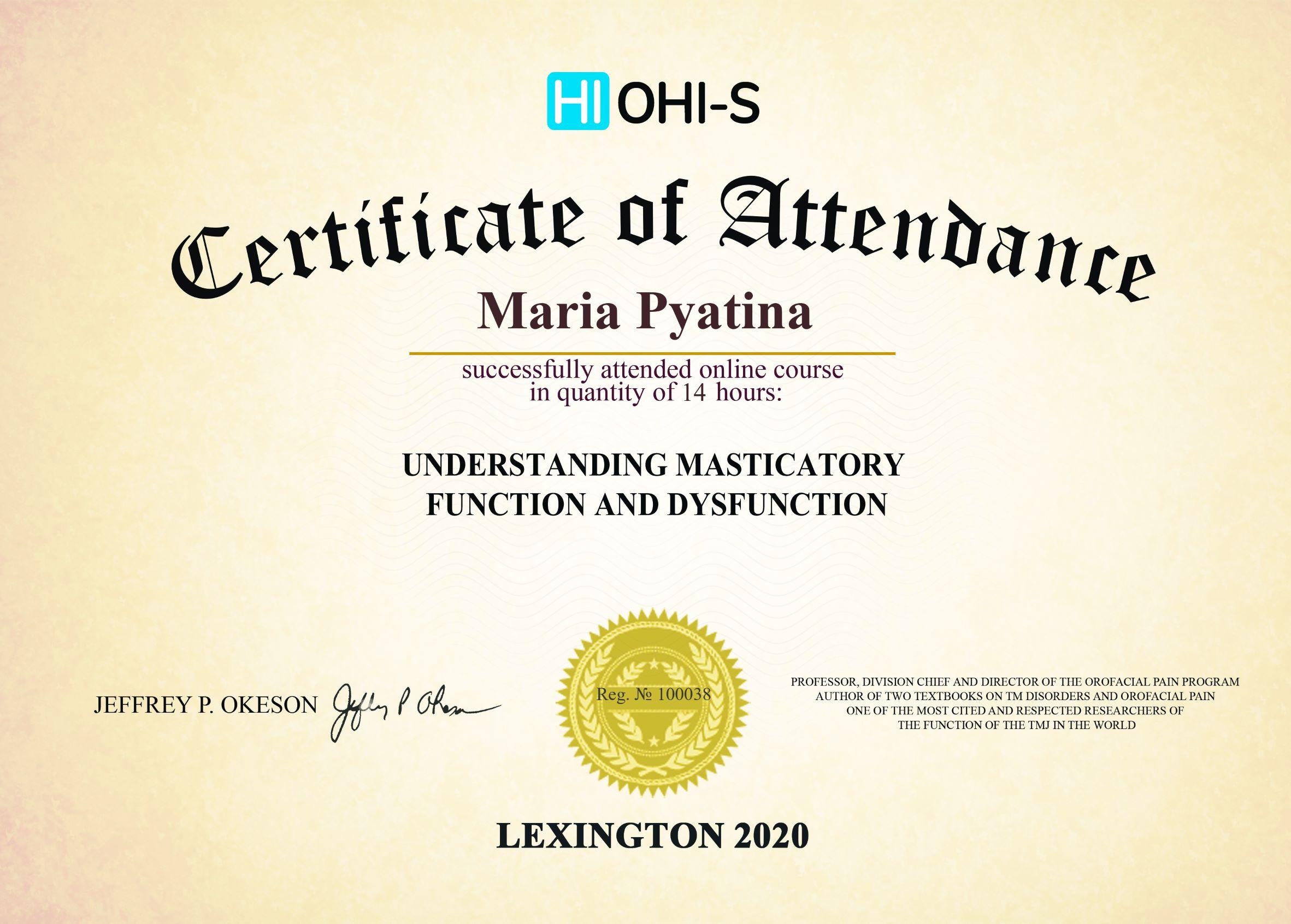 2020, HI OHI-S, Lexington