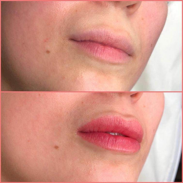 Нано напыление губ