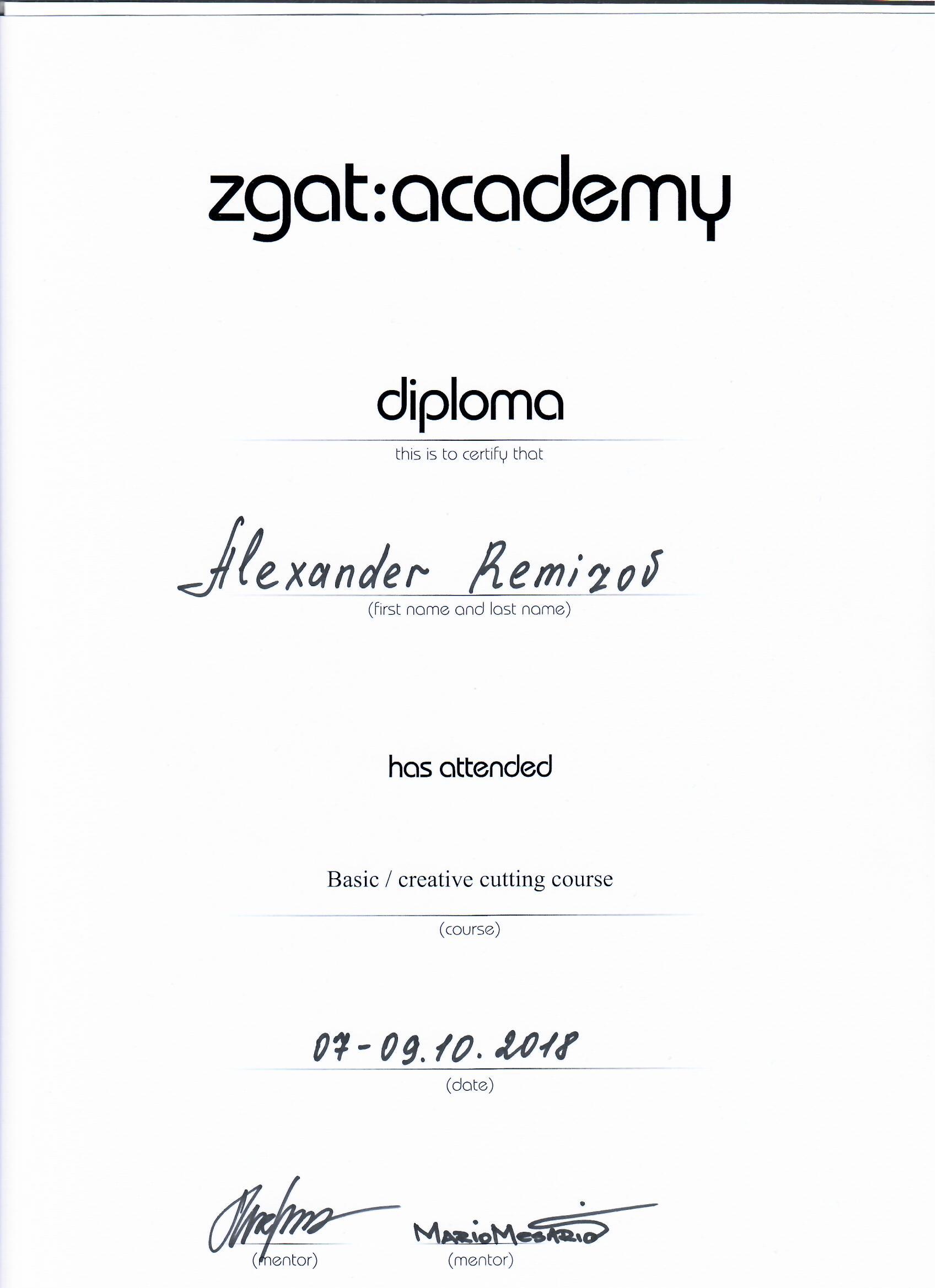 2018 обучение в ZGAT academy